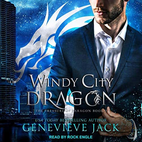 Audiobook cover for Windy City Dragon (audiobook) by Genevieve Jack