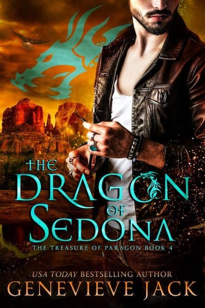 Book cover for The Dragon of Sedona by Genevieve Jack